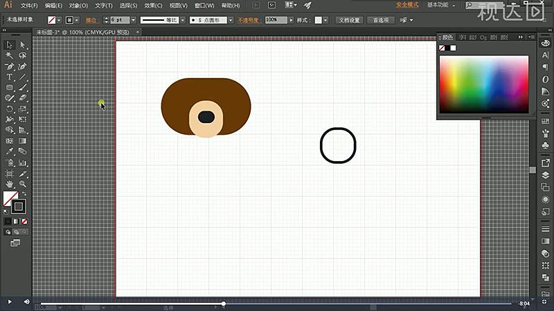 4同样复制脸部修改填充为描边,有所谓如图示,再选择直接选择工具把多余锚点删除.jpg