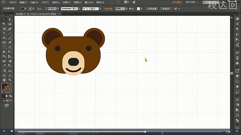 7按上述方法绘制正圆,制作耳朵颜色如图示.jpg