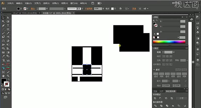 AI时期运动几何造字法装饰艺术设计字体的室内设计图片