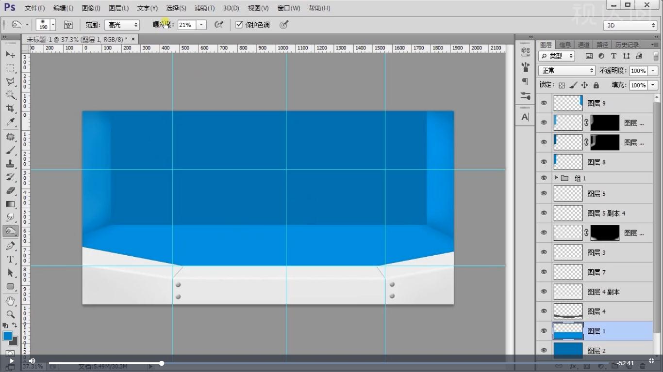 7选择右边墙用加深减淡工具调整,效果如图示.jpg