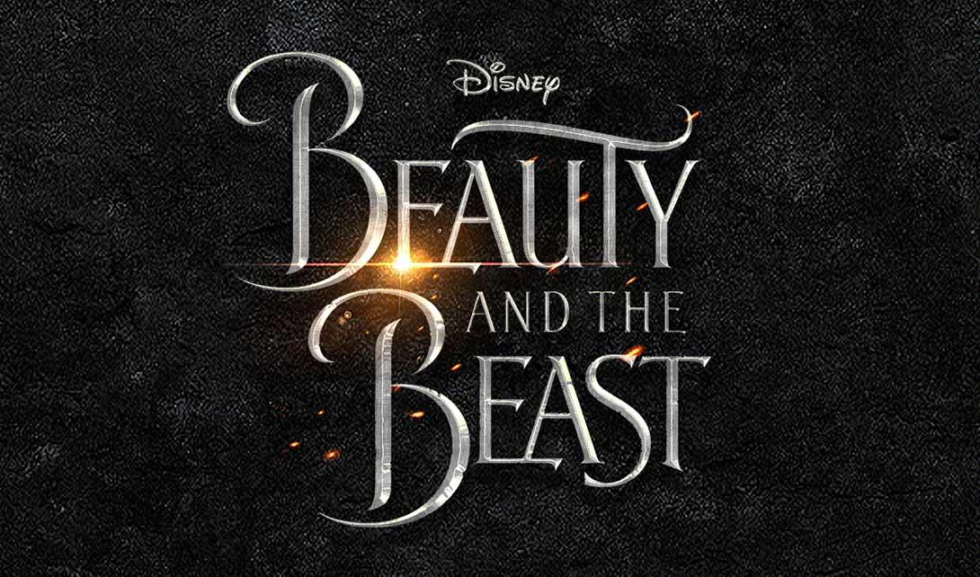 ps电影海报字体设计 美女与野兽