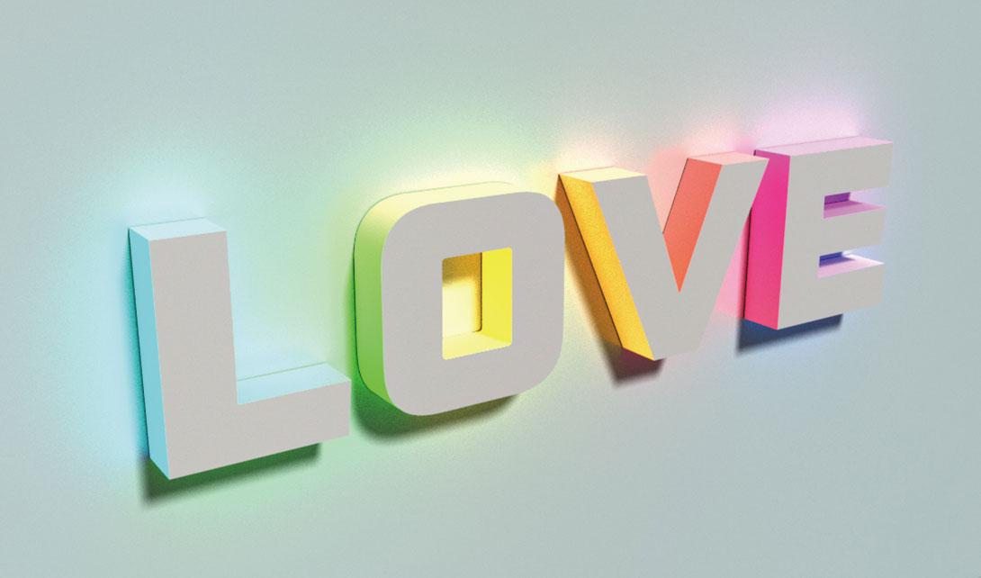 PS发光3D字体制作视频教程