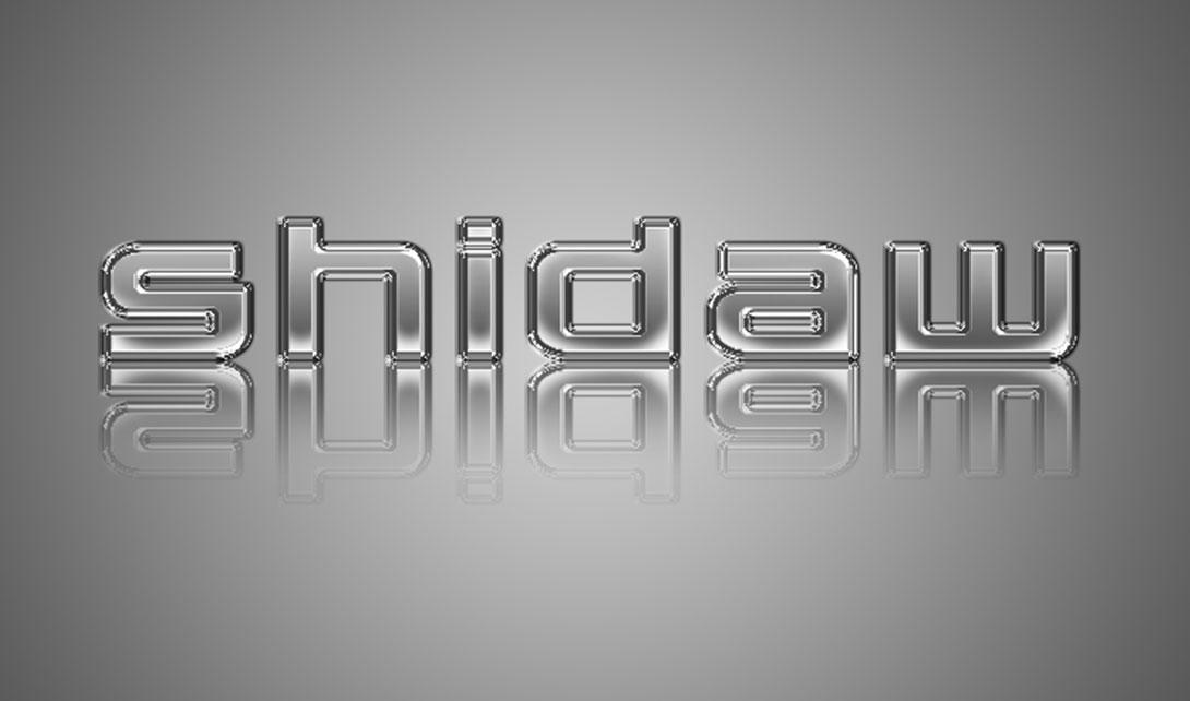 ps字体设计 金属字shidaw