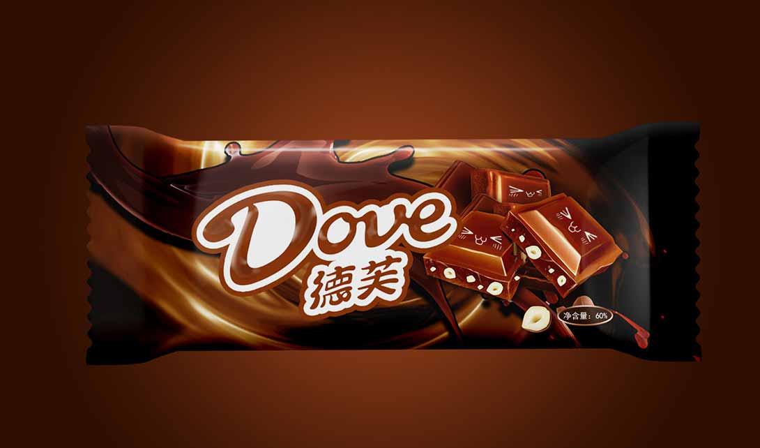 PS德芙巧克力包装设计视频教程