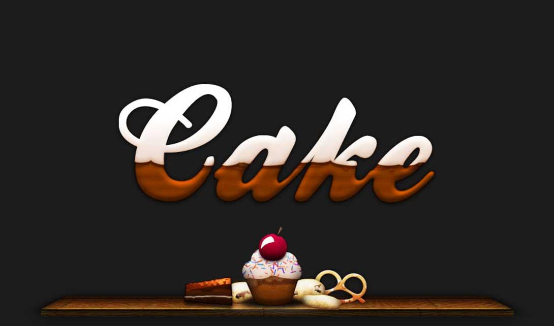 PS蛋糕字效设计  cake视频教程