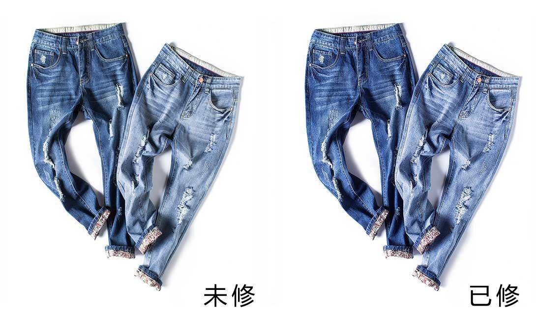 PS蓝色牛仔裤精修视频教程