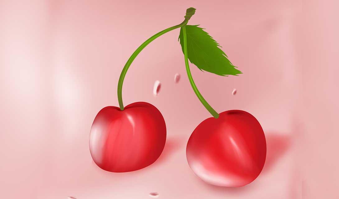 sai手绘红樱桃