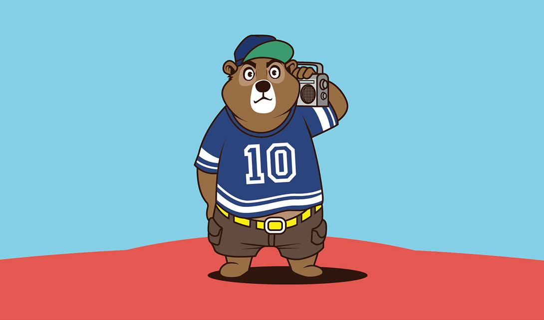 AI嘻哈熊卡通动漫设计视频教程