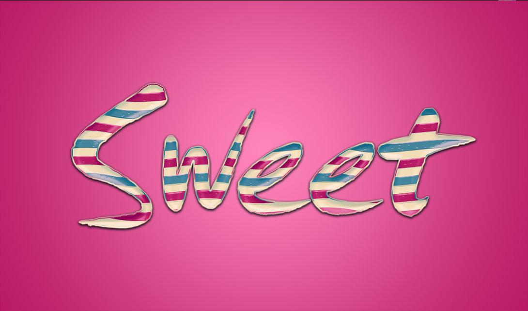 ps可爱糖果字体 sweet