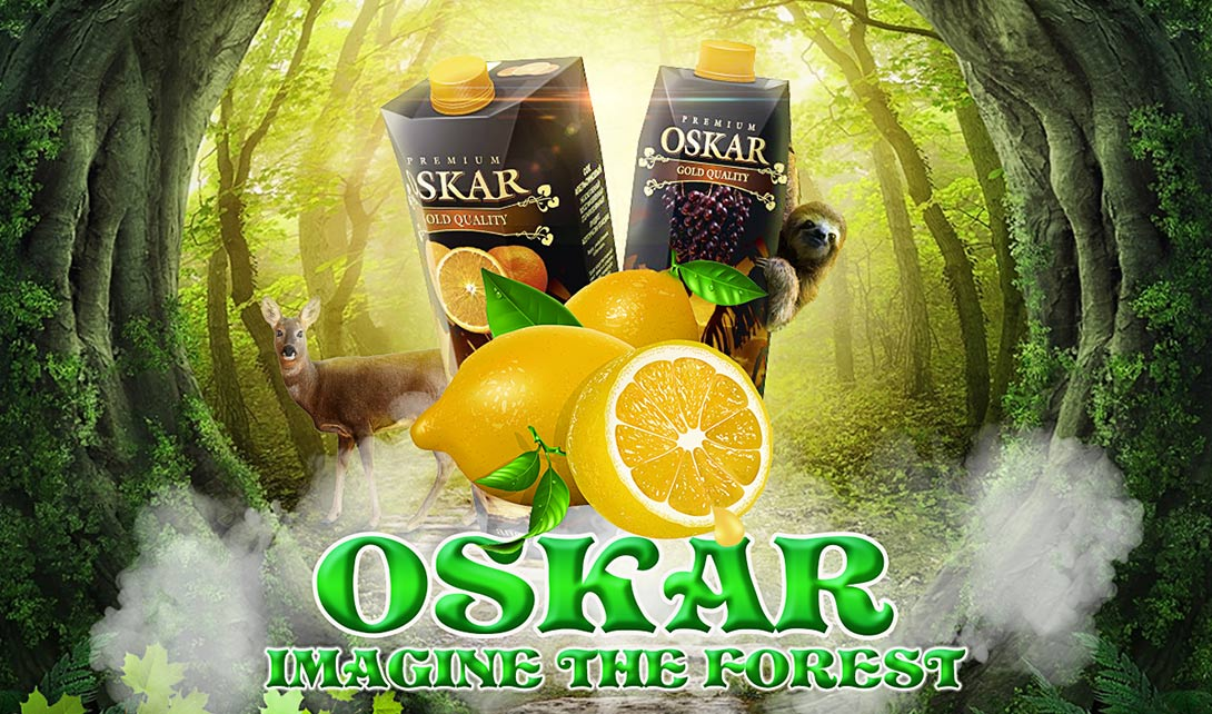 ps森林果汁创意合成海报制作视频教程_电商海报-视达网