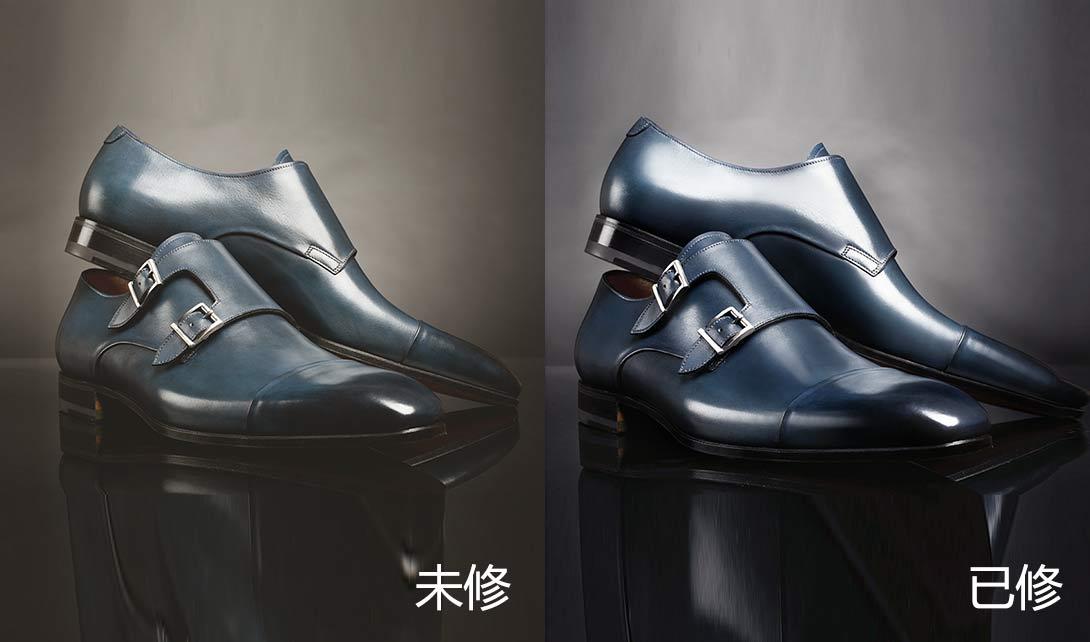 PS黑色男鞋男靴及裸靴精修视频教程