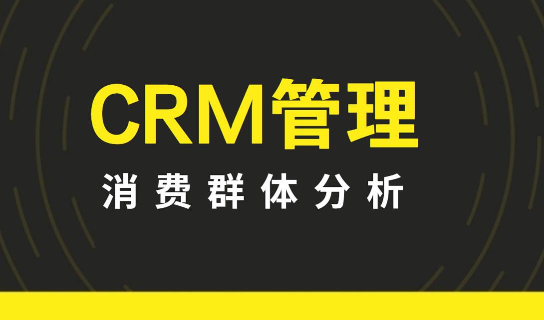 CRM管理--消费群体分析视频教程