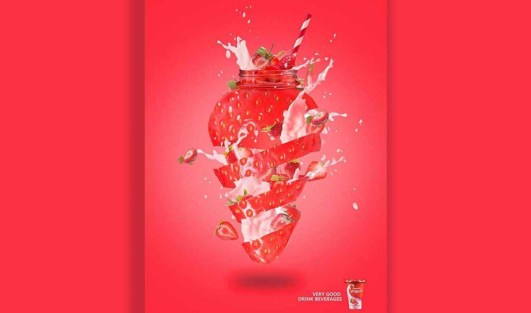 PS创意合成草莓海报制作视频教程