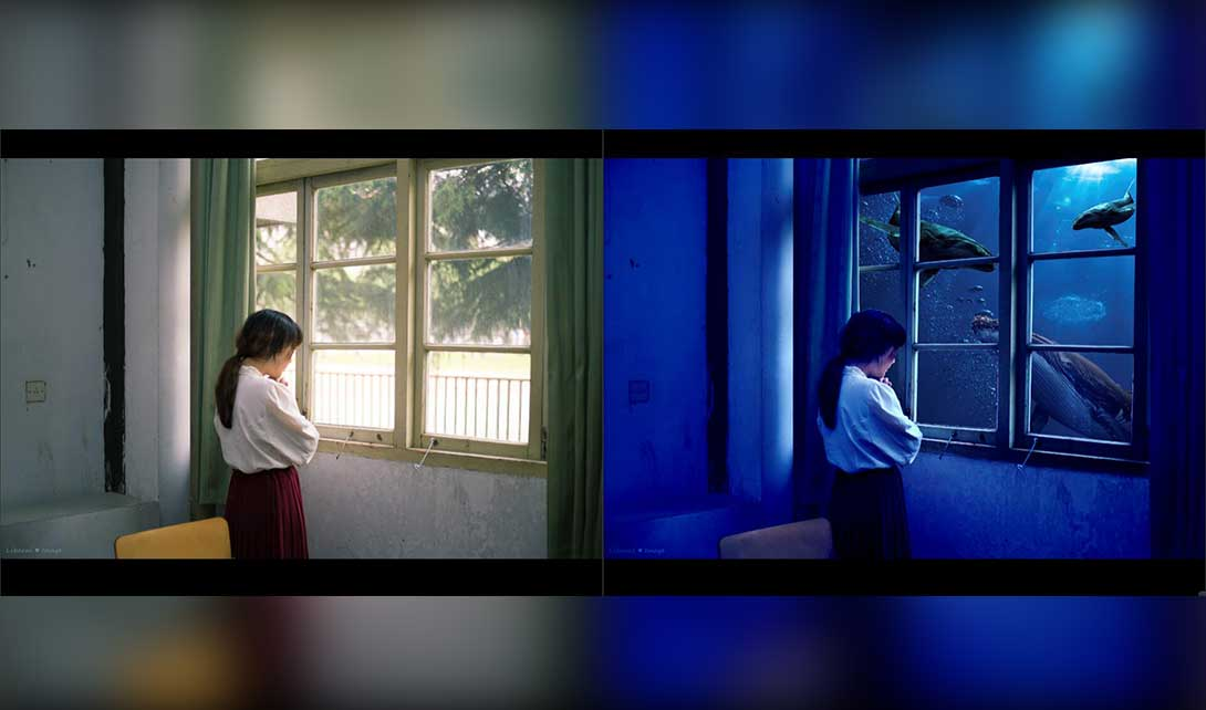 PS海底屋场景合成海报制作视频教程