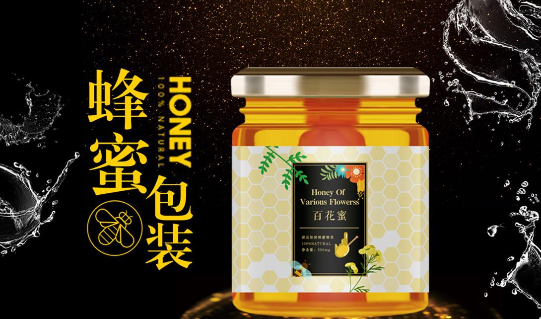 AI PS蜂蜜包装设计