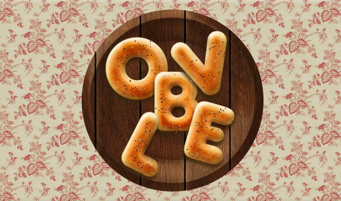 ps面包字体设计
