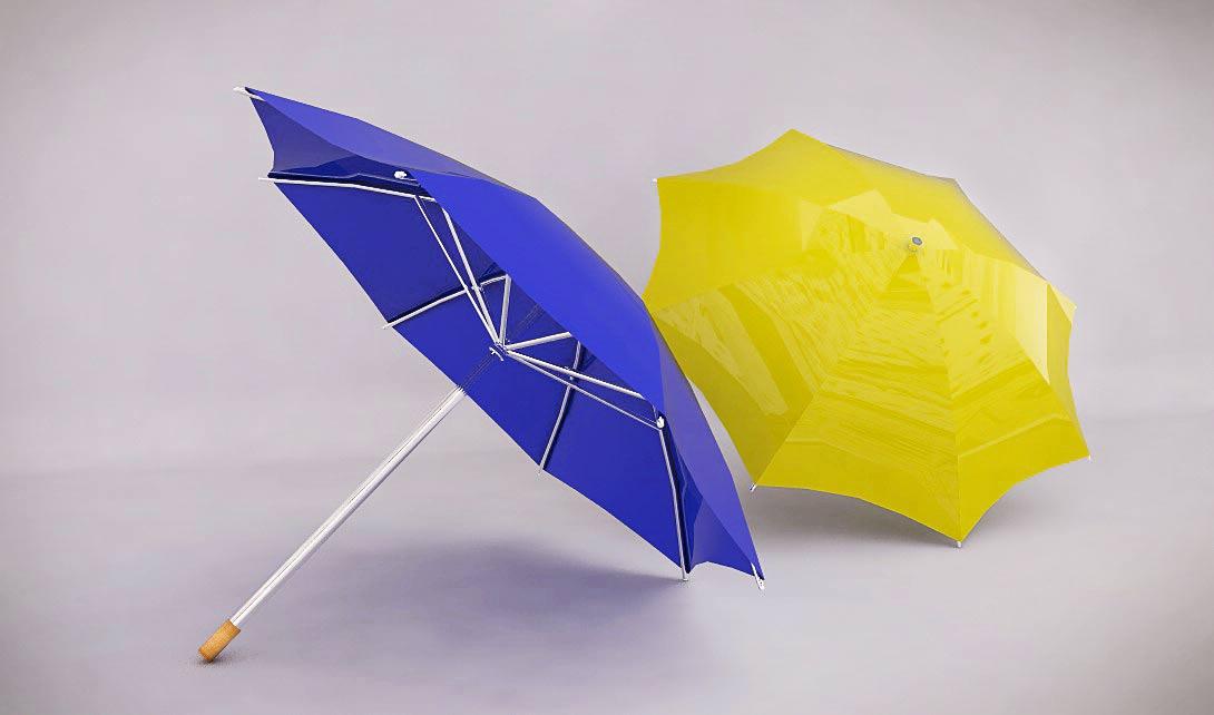 C4D雨伞建模视频教程