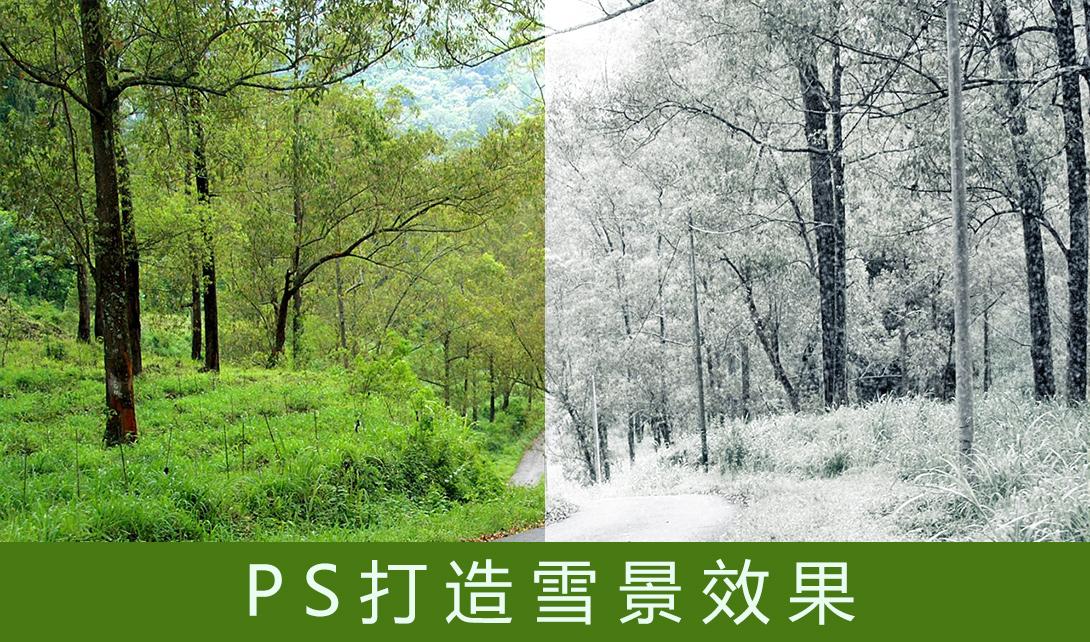 PS打造雪景效果视频教程