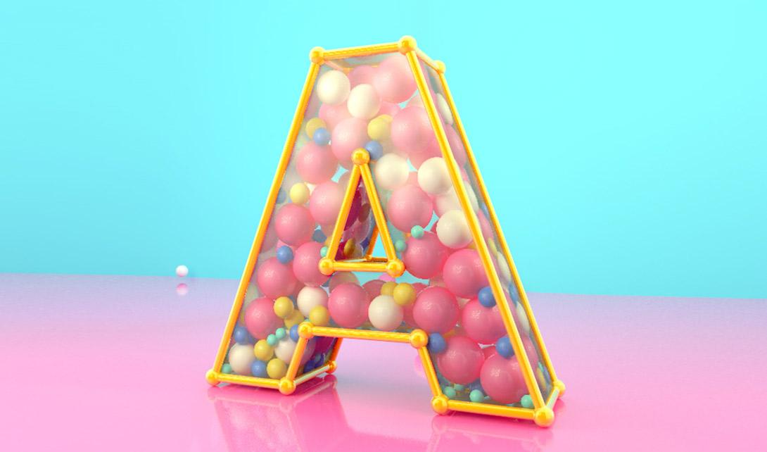 C4D建模A字球体视频教程