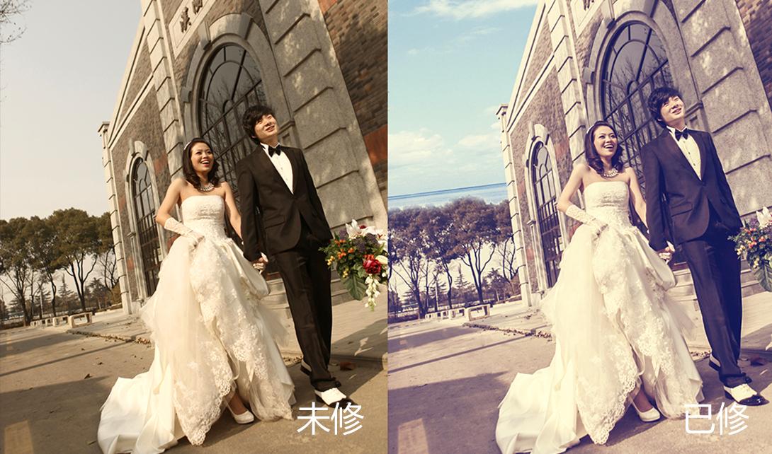 ps调色    调色修图    婚纱照调色  写真修图 视频相关素材下载