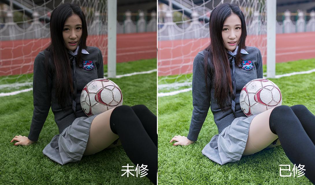 PS清新校园风摄影后期人物写真修片视频教程
