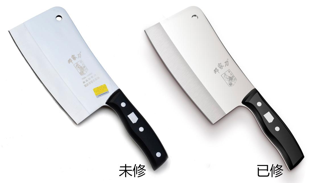 PS餐具不锈钢菜刀精修视频教程