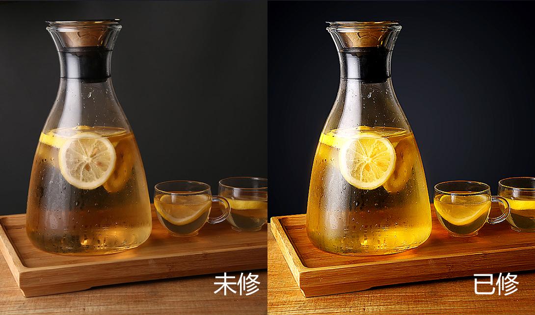 PS柠檬茶水精修调色视频教程