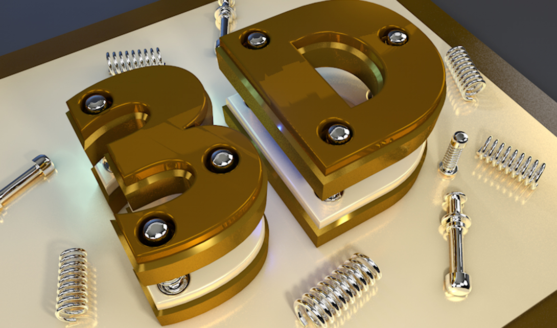 C4D-3D文字建模渲染视频教程