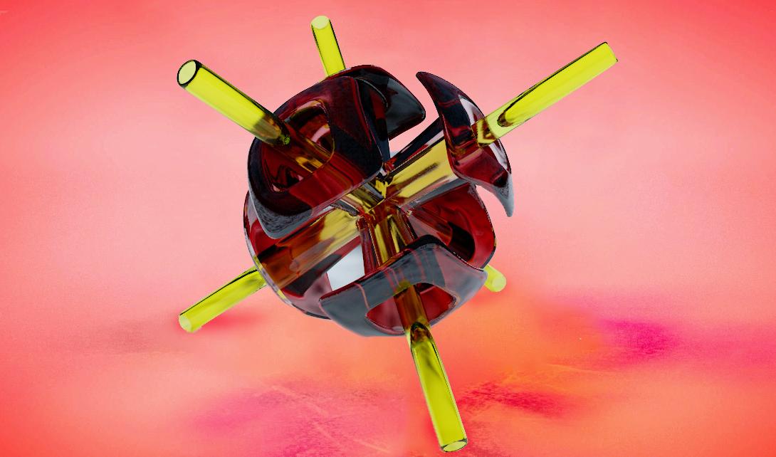 C4D+PS玻璃材质物体建模渲染视频教程