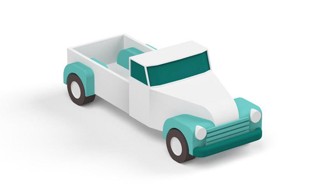 c4d卡通汽车建模视频教程
