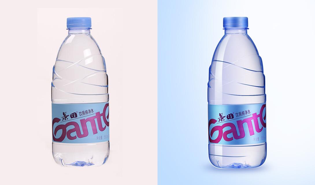 PS矿泉水瓶精修视频教程