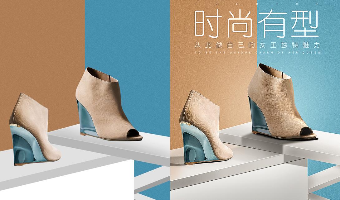 PS女鞋海报设计光影后期处理视频教程