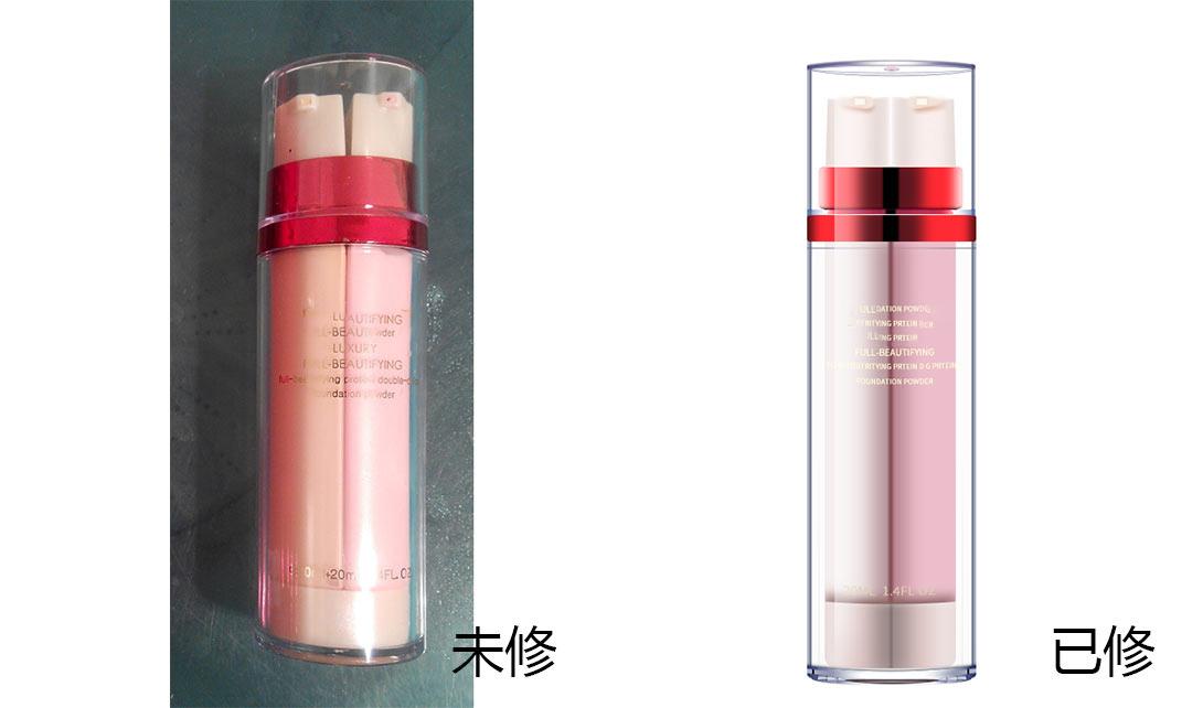 PS双色透明瓶子bb霜精修视频教程