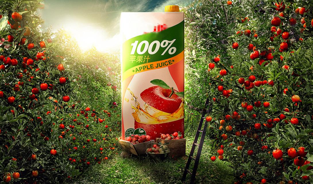 PS新鲜苹果汁海报设计视频教程