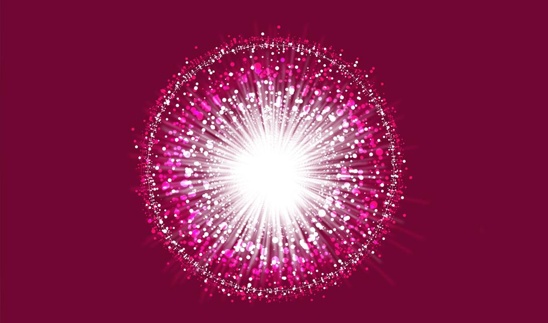 PS-5分钟制作发散光线粒子背景视频教程