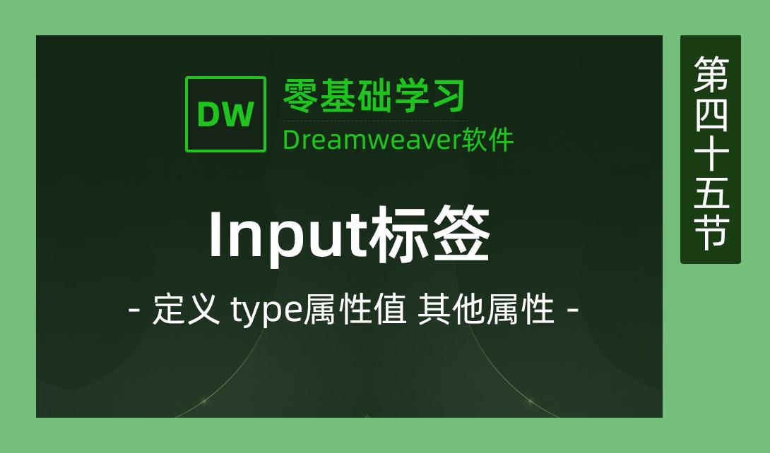 DW2017-input标签视频教程