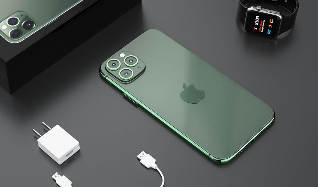 C4D苹果11 pro max暗夜绿产品建模教程视频教程