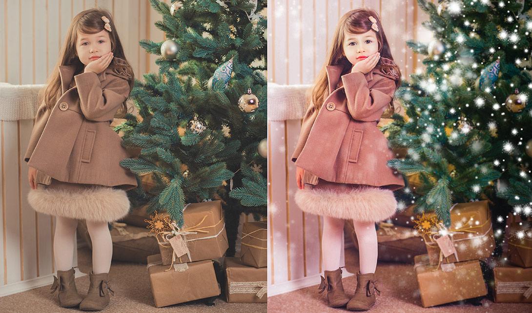 PS室内圣诞节主题摄影后期修图视频教程